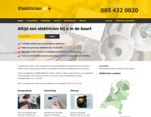 Screenshot website Electricien.nl