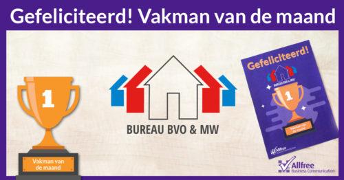 Technisch Bureau BVO vakman van de maand